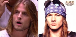 Daniel (BBB) e Axl Rose, do Guns N' Roses