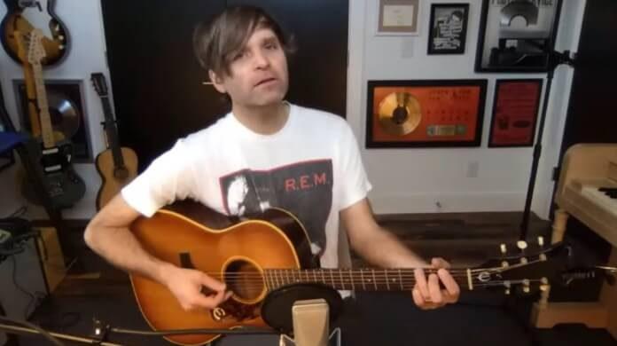 Ben Gibbard em sessão de estúdio