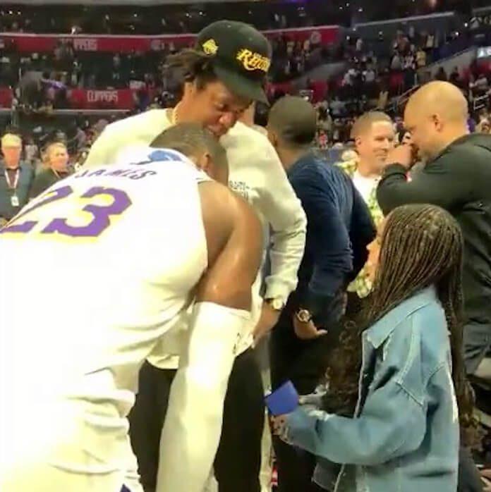Blue Ivy, Jay-Z e LeBron James