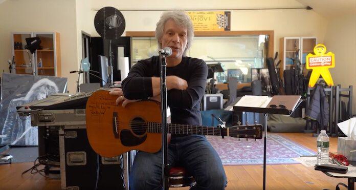 Bon Jovi fazendo música contra o coronavírus