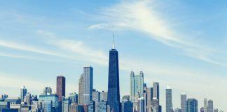 Skyline de Chicago com tempo limpo