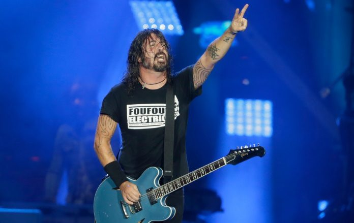 Dave Grohl no Rock In Rio 2019 com o Foo Fighters