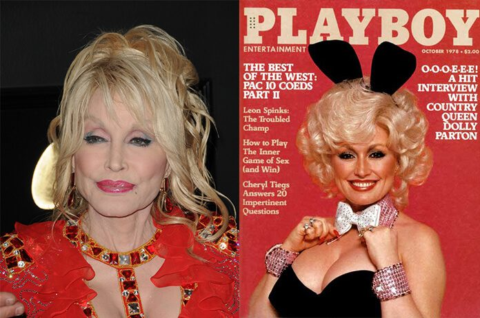 Dolly Parton em 2019 e em 1978
