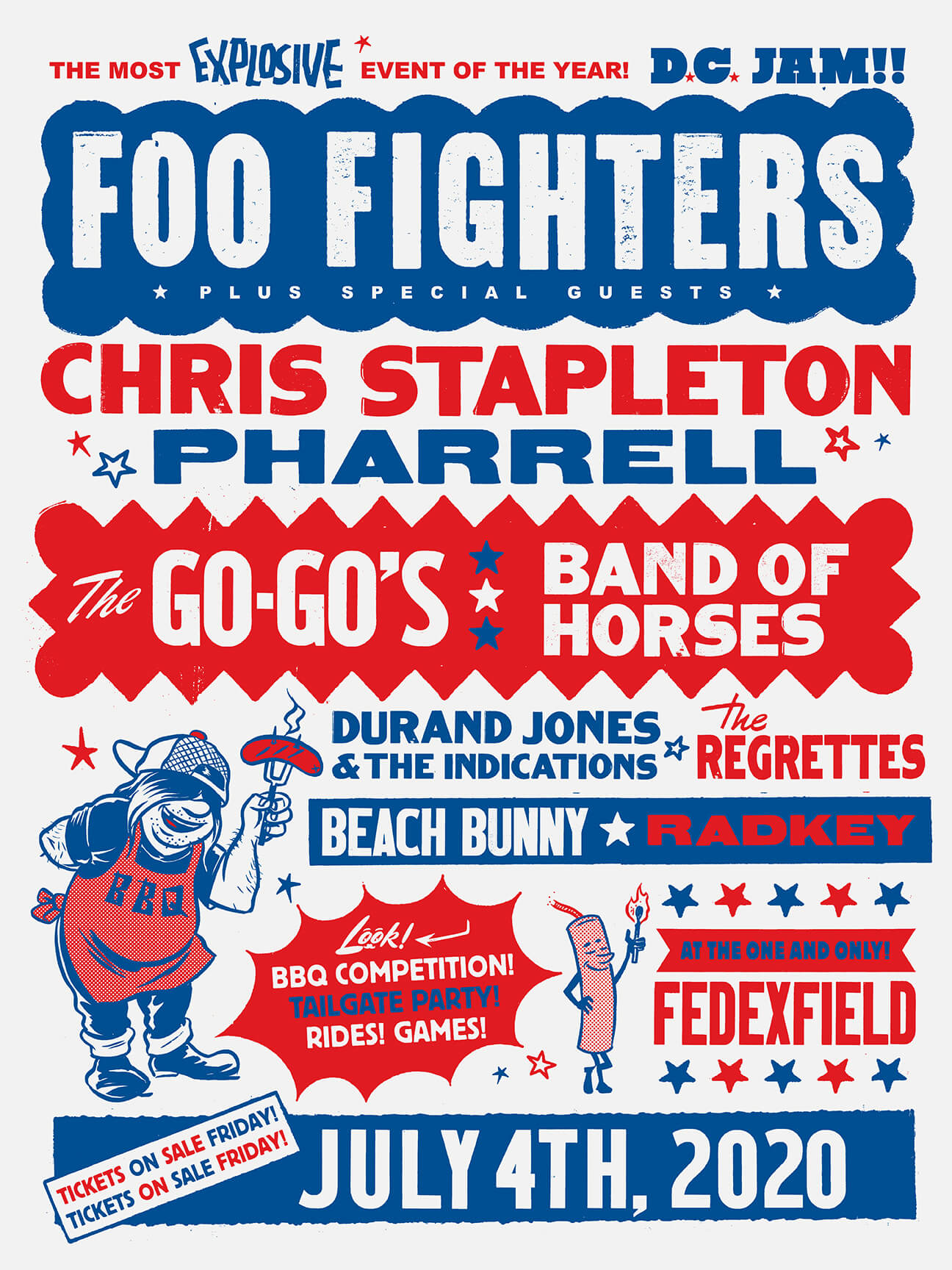 Line-up D.C. Jam Foo Fighters