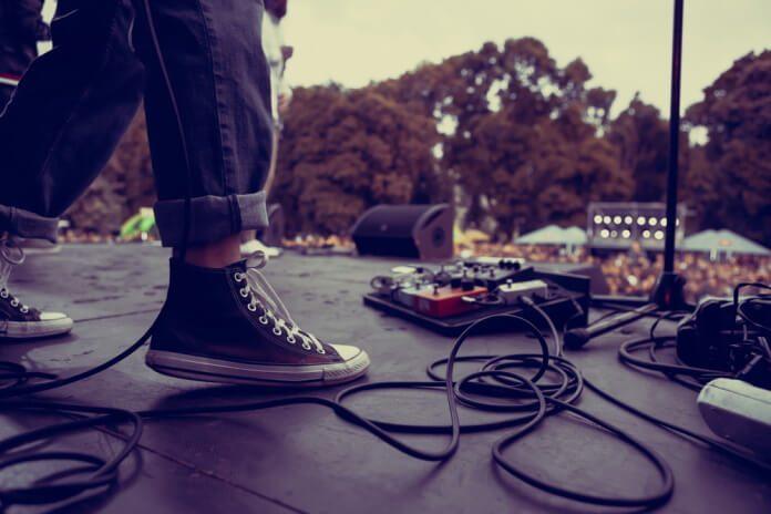 Foto de palco em show