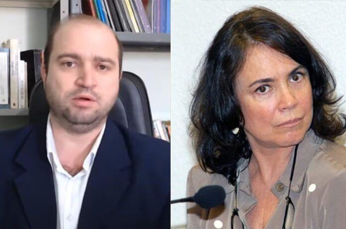 Dante Mantovani e Regina Duarte