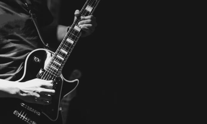 Guitarrista em show