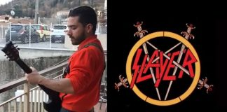 Guitarrista italiano toca Slayer