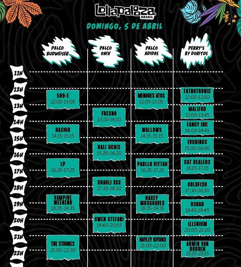 Lollapalooza Brasil 2020 - Domingo