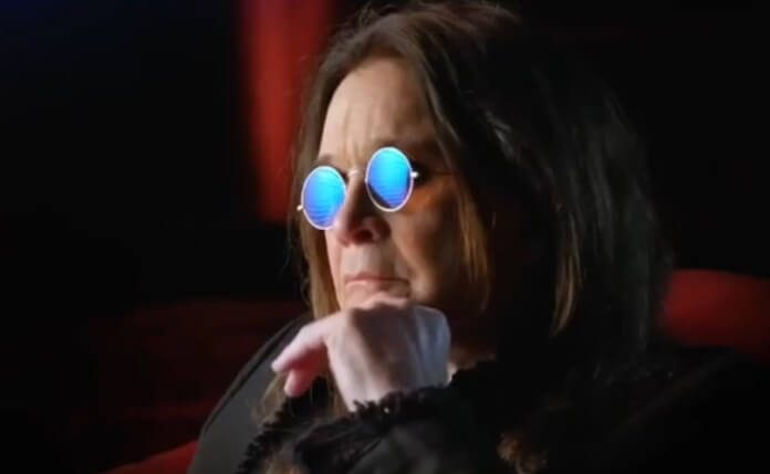 Ozzy Osbourne no clipe de Ordinary Man