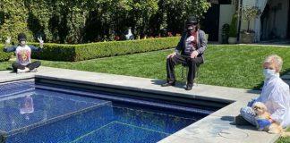 Ozzy Osbourne e sua família em isolamento