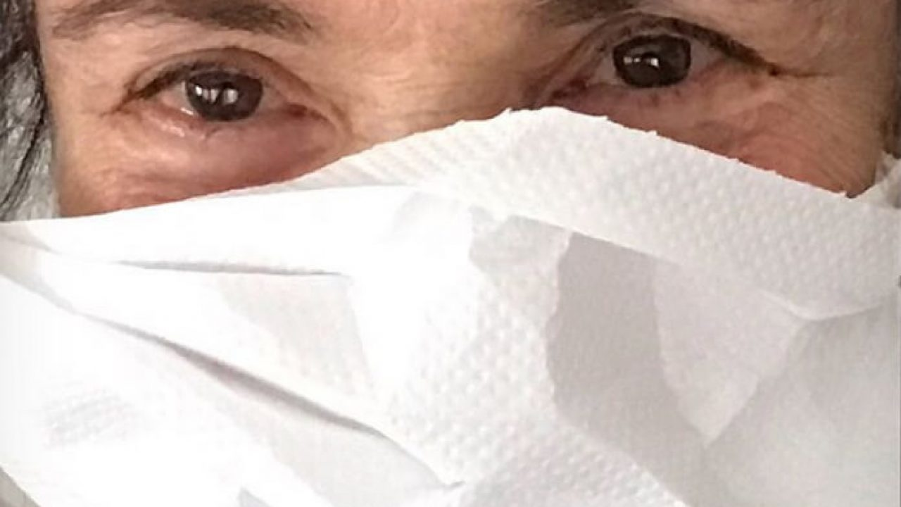 """Com """"máscara"""" de papel toalha, Regina Duarte faz críticas ao ..."""