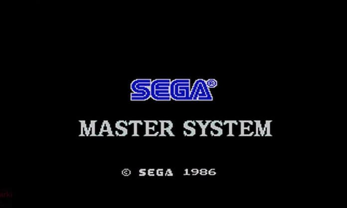 Tela de Início do Master System