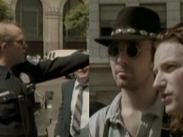 U2 e a Polícia no clipe de Where The Streets Have No Name