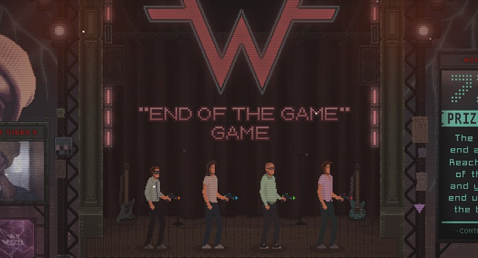 Weezer luta contra alien gigante em novo jogo online 8-bit