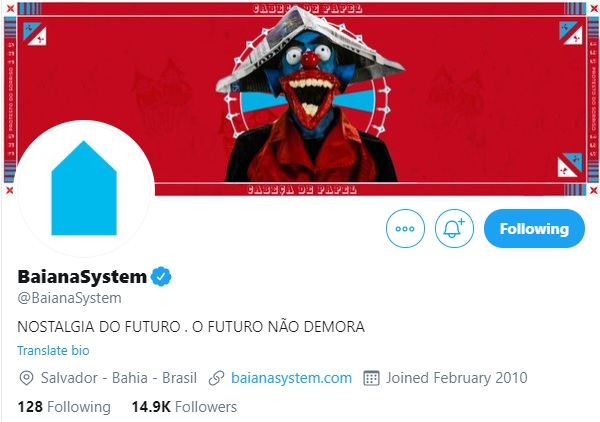 Twitter do BaianaSystem