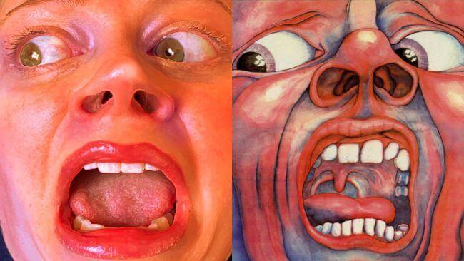 Capas recriadas na quarentena - King Crimson