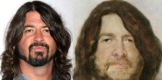 Dave Grohl como pintura renascentista