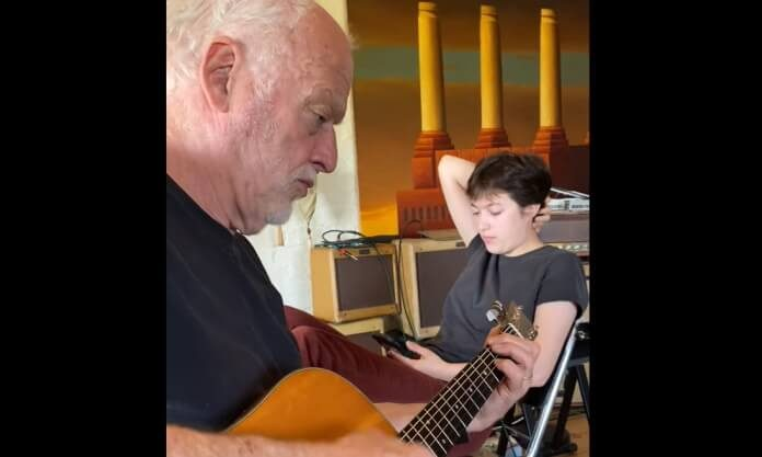 David Gilmour em família