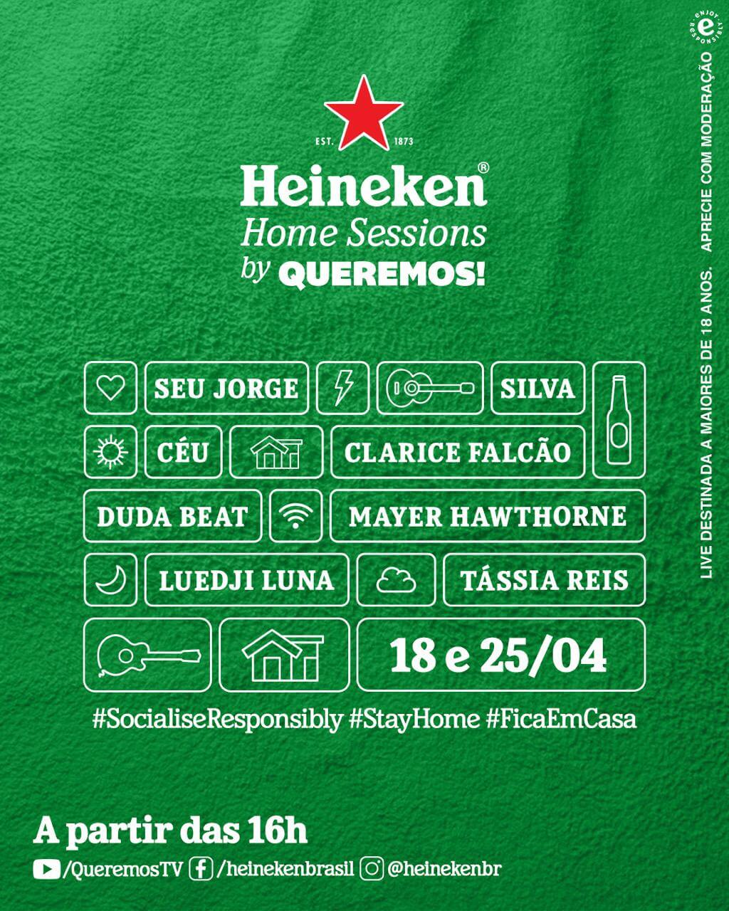 Line-up Heineken Home Sessions by Queremos!