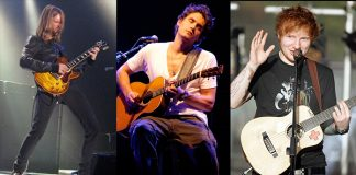 James Valentine (Maroon 5), John Mayer e Ed Sheeran