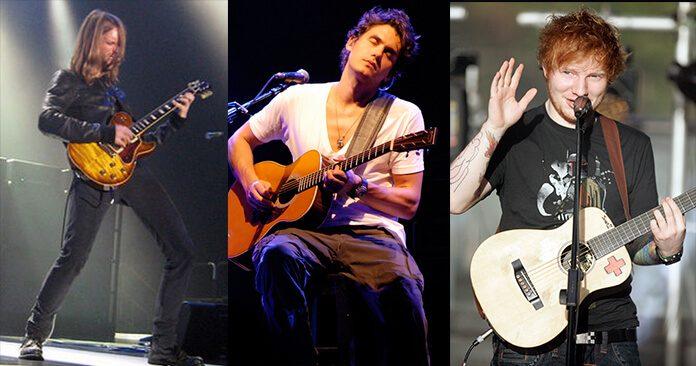 James Valentine (Maroon 5), John Mayer e Ed Sheeran