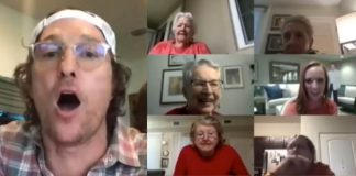 Matthew McCounaughey joga bingo com idosos