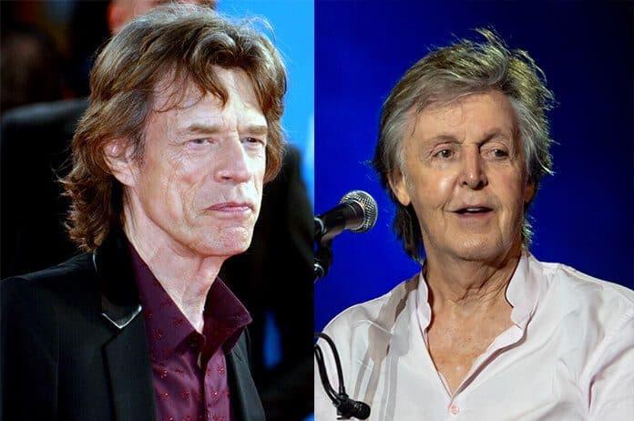 Mick Jagger e Paul McCartney