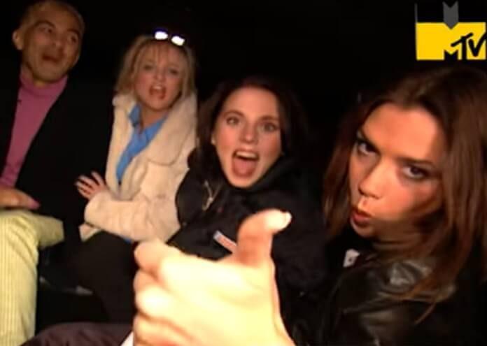 Pat Smear com as Spice Girls