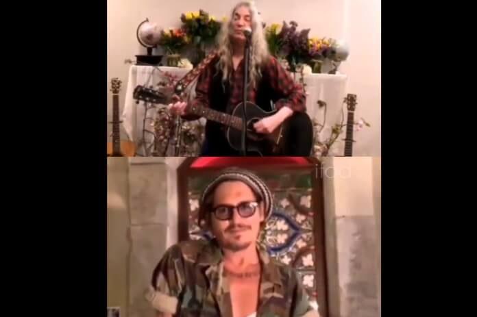 Patti Smith e Johnny Depp
