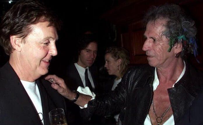 Paul McCartney e Keith Richards (Beatles, Stones)