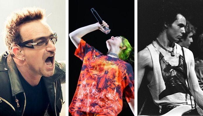 Bono, Billie Eilish e Sex Pistols