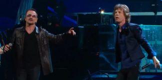 Bono (U2) e Mick Jagger (Rolling Stones)