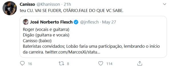 Canisso (Raimundos) responde Flesch