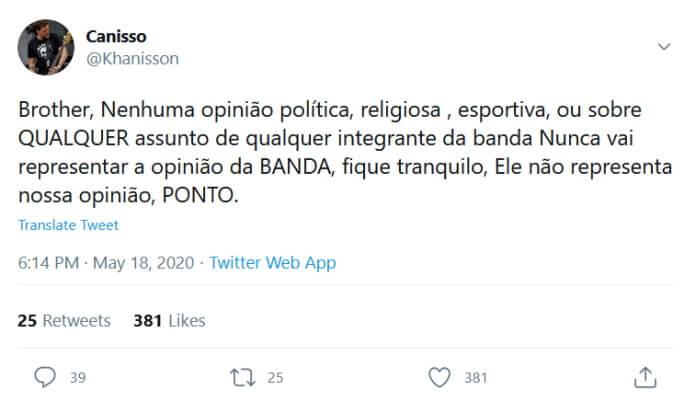Canisso fala sobre Raimundos