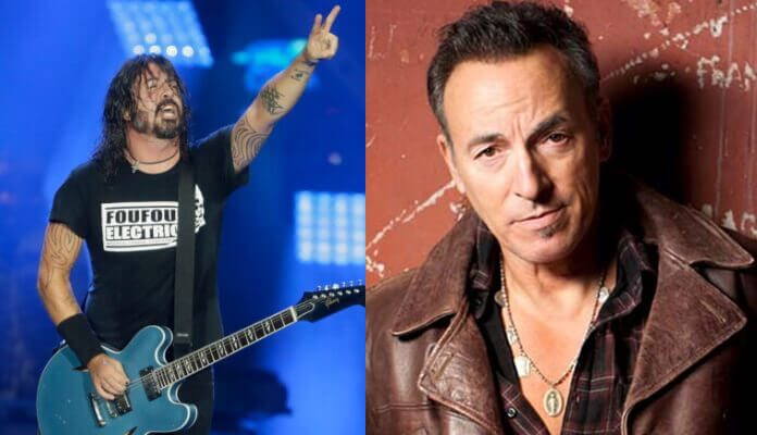 Dave Grohl e Bruce Springsteen