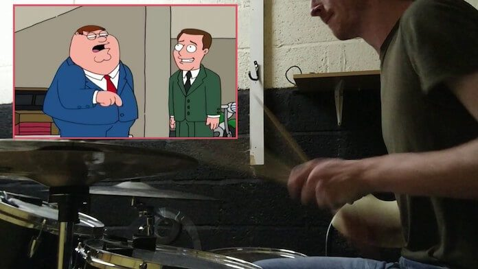 Family Guy com bateria