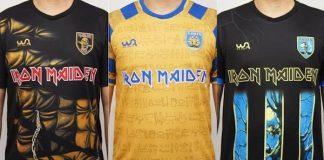 Camisetas de futebol do Iron Maiden