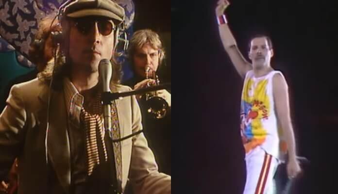 John Lennon e Freddie Mercury