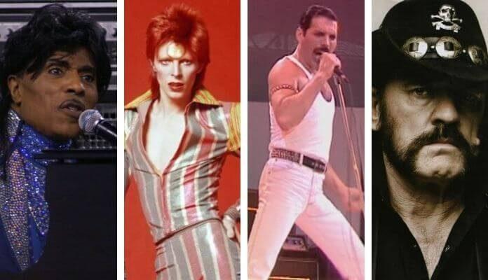 Little Richard, David Bowie, Freddie Mercury, Lemmy Kilmister