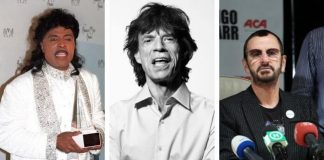 Little Richard, Mick Jagger e Ringo Starr