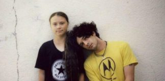 Matty Healy (The 1975) e Greta Thunberg