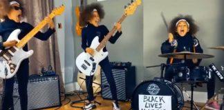 Nandi Bushell tocando Rage Against the Machine