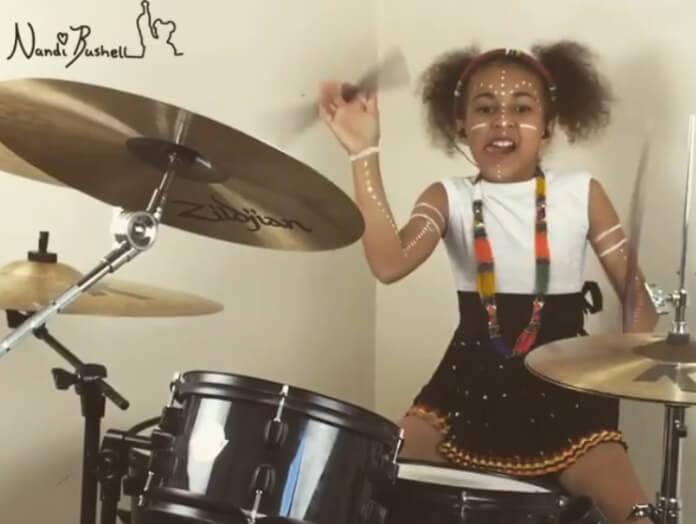 Aos 10 anos, Nandi Bushell faz cover incrível de Royal Blood e chama atenção da banda