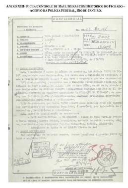Ficha policial de Paulo Coelho