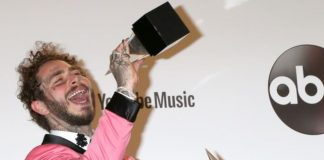 Post Malone no American Music Awards 2018