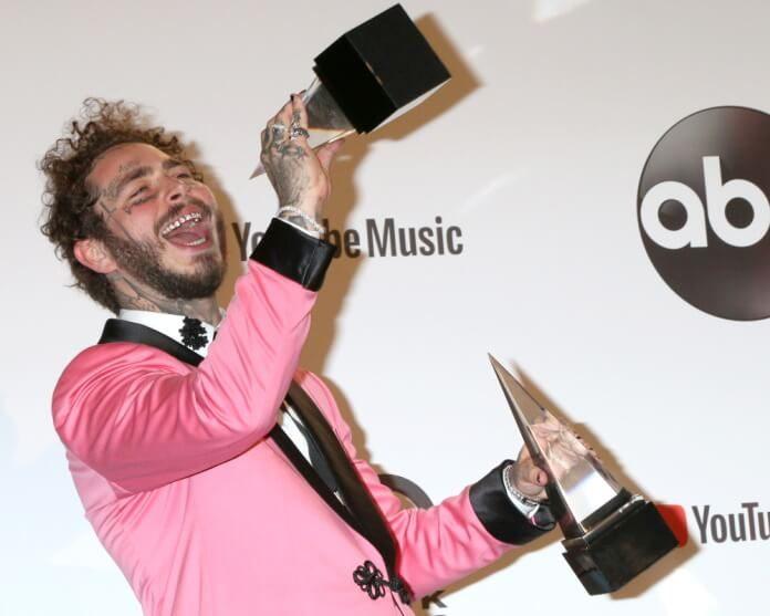 Post Malone no American Music Awards 2018