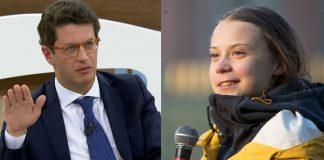 Ricardo Salles e Greta Thunberg