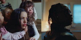 Rosalía e Travis Scott no clipe de TKN