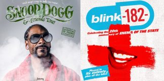 Posters de Snoop Dogg e blink-182